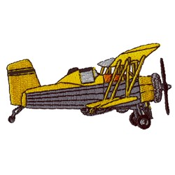 Spray Plane embroidery design
