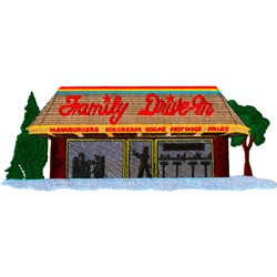 Family Diner embroidery design