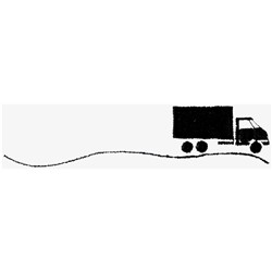 Truck Silhouette embroidery design