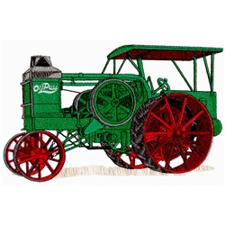 Antique Tractor embroidery design