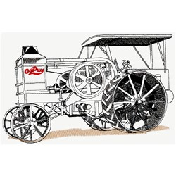Antique Pulling Tractor embroidery design