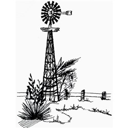Windmill Outline embroidery design