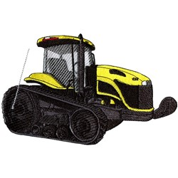 High Track Tractor embroidery design