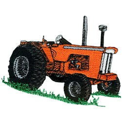 Classic Farm Tractor embroidery design
