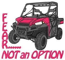 No Fear 4 Wheeler embroidery design