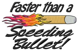 Speeding Bullet embroidery design