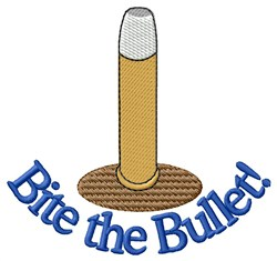 Bite The Bullet embroidery design