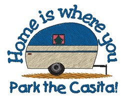 Park The Casita embroidery design