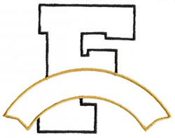 Athletic Banner F embroidery design