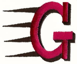 Fast G embroidery design