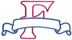 Applique Banner F embroidery design