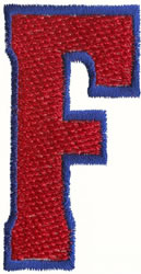 Fill Er Up F embroidery design