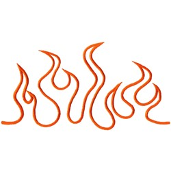 Flame Outline embroidery design