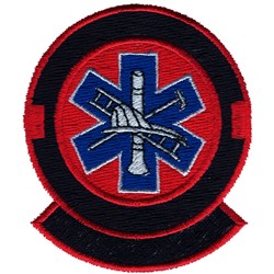 Fire and EMS Logo embroidery design