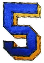 5 Zig-Zag embroidery design