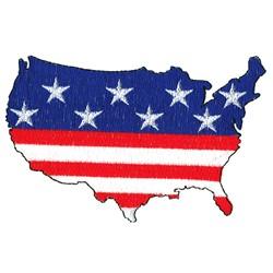 U. S. Flag embroidery design
