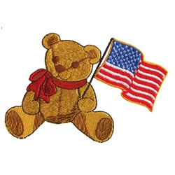 Teddy Flag embroidery design