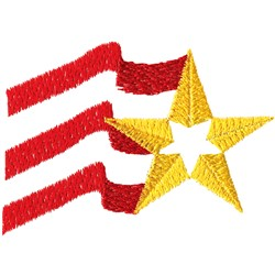 Abstract Flag embroidery design