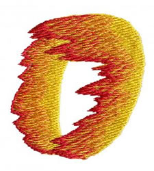 Flame 0 embroidery design