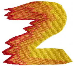 Flame 2 embroidery design
