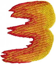Flame 3 embroidery design