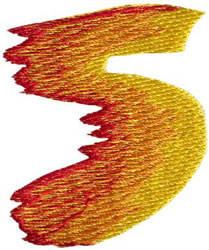 Flame 5 embroidery design