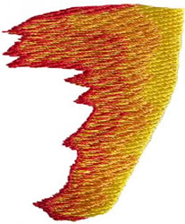 Flame 7 embroidery design