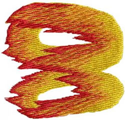 Flame 8 embroidery design