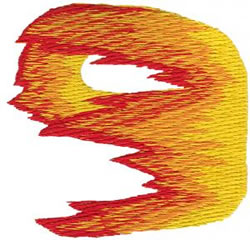Flame 9 embroidery design