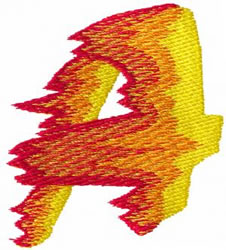 Flame A embroidery design