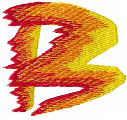 Flame B embroidery design