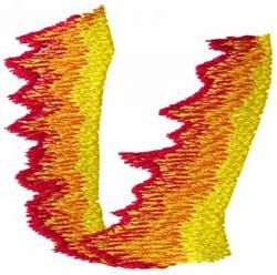 Flame U embroidery design