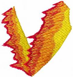 Flame V embroidery design