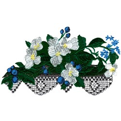 Flower Mantel Array embroidery design