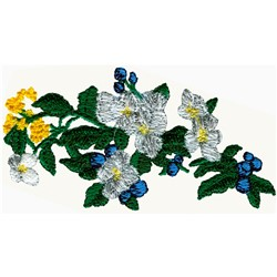 Bougainvillea embroidery design