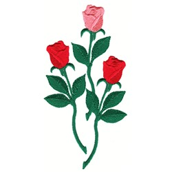 Three Roses embroidery design