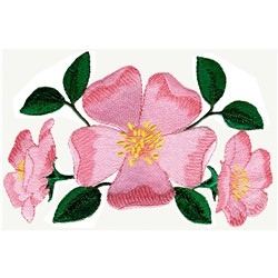 Prairie Rose embroidery design