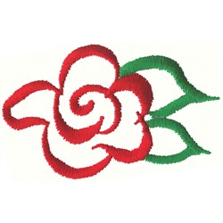 Abstract Rose embroidery design