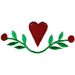 Heart Motif embroidery design