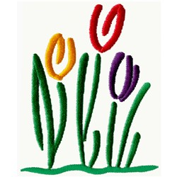 Abstract Tulips embroidery design
