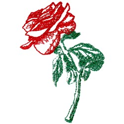 Rose Appliqué embroidery design