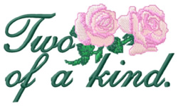 Two of a Kind embroidery design