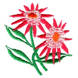 Echinacea embroidery design