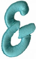 Foam Ampersand embroidery design