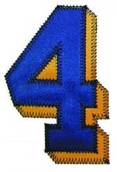 4 Zig-Zag embroidery design