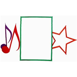 Music Frame embroidery design
