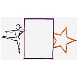 Dance Frame embroidery design