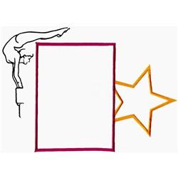 Gymnastics Frame embroidery design