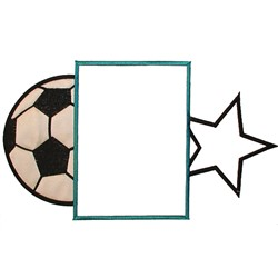 Soccer Frame embroidery design