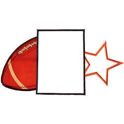 Football Frame embroidery design